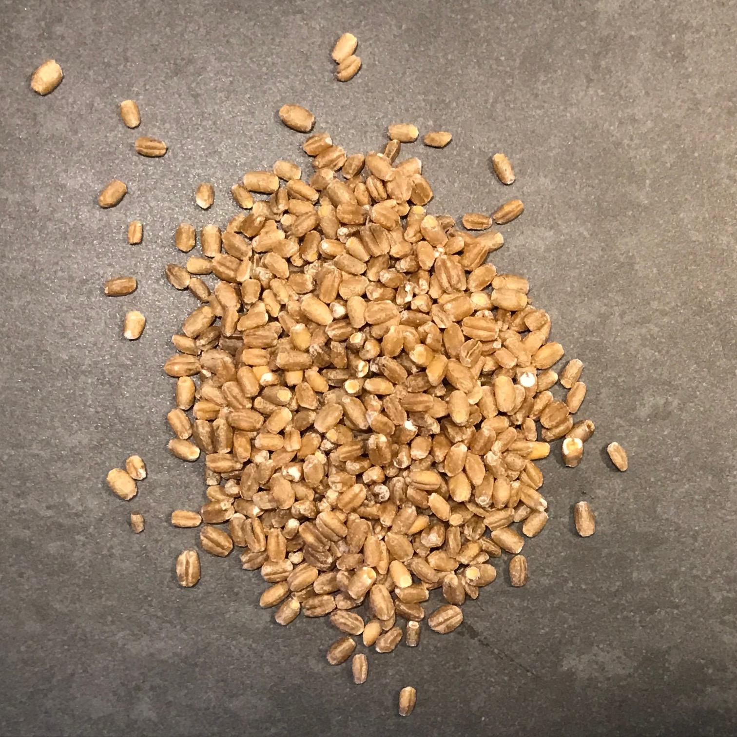 Hela korn för malning